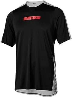 Fox Racing Flexair Delta Short-Sleeve Jersey - Men's Black/Grey, XXL