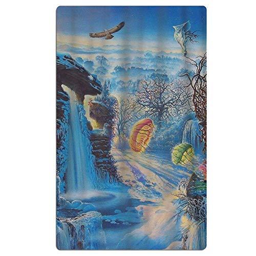 Hoed familie Fantasy Landscape Art Beach Handdoek Zachte Quick Dry Lichtgewicht Hoge Absorbens Zwembad Spa Handdoek voor Mannen Vrouwen 31 X 51 inch