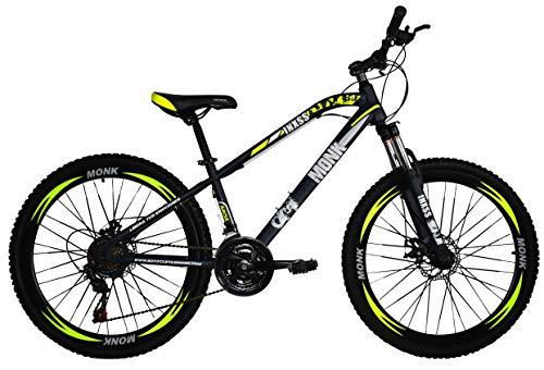 Monk Bicicleta Montaña Inxss Shimano F/DIS Rodada 26 21 Vel (Amarillo)