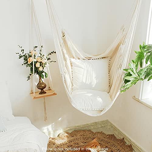 Chihee Hängematte Stuhl Große Hängematte Stuhl Entspannung Hängesessel Baumwolle Weben für Höchsten Komfort und Haltbarkeit Innen/Draußen Zuhause Schlafzimmer Terrasse Deck Hof Garten - 6
