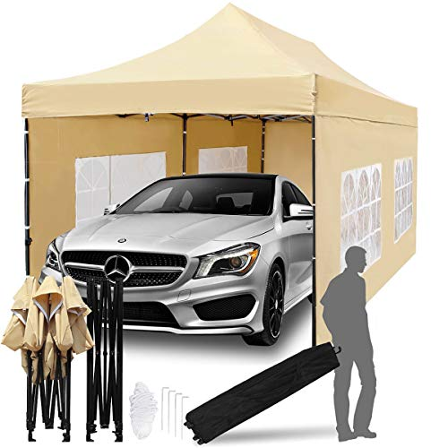 TopCamp 10x20 ft Pop up Canopy, Heavy Duty Commercial Tent Waterproof Outdoor Party Tents with...