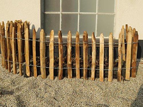 STILTREU Staketenzäune Staketenzaun Kastanie Höhen 50 cm - 200 cm, 5 Meter Rolle, 3 versch. Lattenabstände (Länge x Höhe: 500 x 50 cm, Lattenabstand: 4-6 cm)