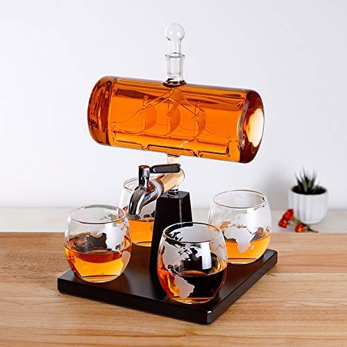 Kreative Antike Boot Form Karaffe Wein Whiskey Glas Karaffe 1 Halterung 1 Decanter 4 Tasse Kombination Set Freund Geschenk