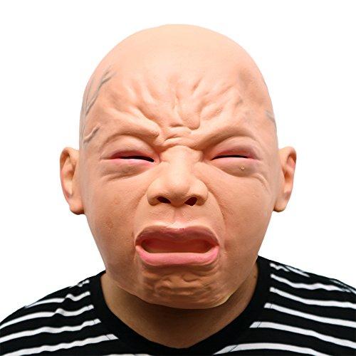 Morbuy Gruselig Halloween Maske, Neuheit Erwachsene Latex Horror Dämon Masken Perfekt für Fasching Karneval Kostüm Weihnachten Halloween Cosplay Kostüme Für Männer und Frauen (Schrei)