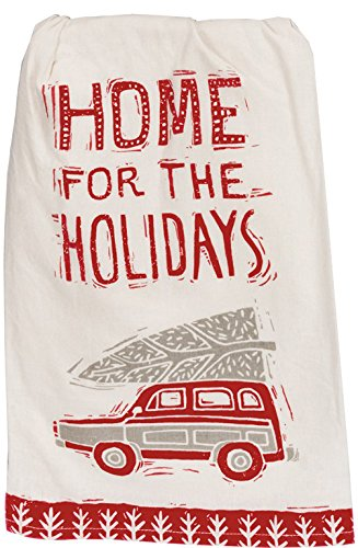 Primitives by Kathy Christmas Kitchen Dish Towel Set, Home for The Holidays