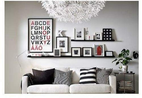 Modern Picture or Frame Floating Ledge 21 3/4 ', Black 2 Pack by Ikea