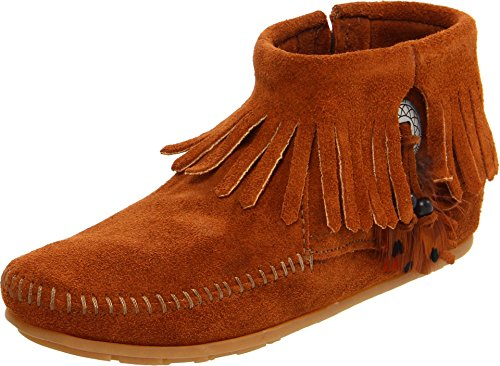 Minnetonka Damen CONCHO FEATHER BOOT Mokassin Stiefel, Braun (Brown 2), 41