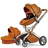 Cotxet de *Bebe *Hot *Mom Cotxet i Cadires de passeig 3 en 1 amb cadira i el cabàs, 2020 estil de vida F22 seient de carro extra comprable - Marró