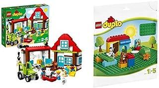 レゴ(LEGO) デュプロ たのしいぼくじょう 10869 & デュプロ 基礎板(緑) 2304