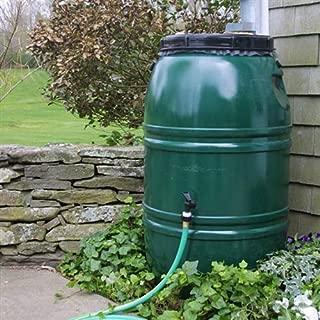 CHOOSEandBUY 60-Gallon High Density Polyethylene Plastic Rain Barrel in Forest Green Rain Barrel Gallon Wizard Good Ideas