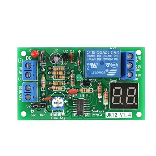 1Stück DC 12V LED-Anzeige Countdown Timer verstellbar Schaltmodul Relais On/Off-Schalter