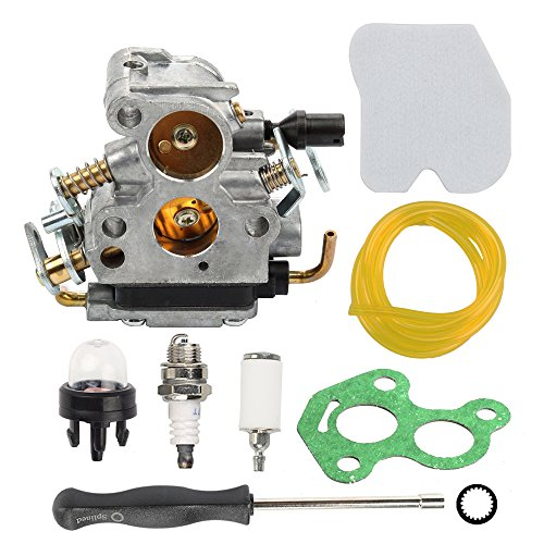 Hilom Carburetor with Air Filter Fuel Line Filter Compatible with Husqvarna 235 235E 236 236E 240 240E Chainsaw Jonsered CS2234 CS2238 CS2234S CS2238S Replaces 574719402 545072601 Carb