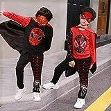 ZGCP Costume Halloween enfants Spiderman Vêtements Costume Altman Batman Rouge Noir 120 mètres