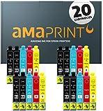 Amaprint 20 XL Patronen kompatibel mit Epson 16XL für Workforce WF2010 WF2500 WF2510 WF2520 WF2530 WF2540 WF2630 WF2650 WF2660 WF2700 WF2750 WF2760