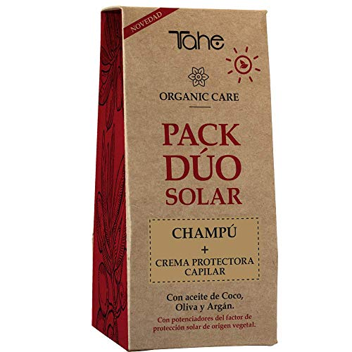 Tahe Organic Care Solar Pack Champú Protector Innate y Crema Protectora 3 Protect, Cabellos Gruesos 300 ml
