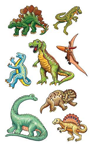 AVERY Zweckform 53145 Kinder Papier-Sticker Dinos 24 Aufkleber (für Jungen, Mitgebsel, Gastgeschenk, Kindergeburtstag, Schatzsuche, Belohnung, zum Spielen, Sammeln, Basteln, Verschenken)