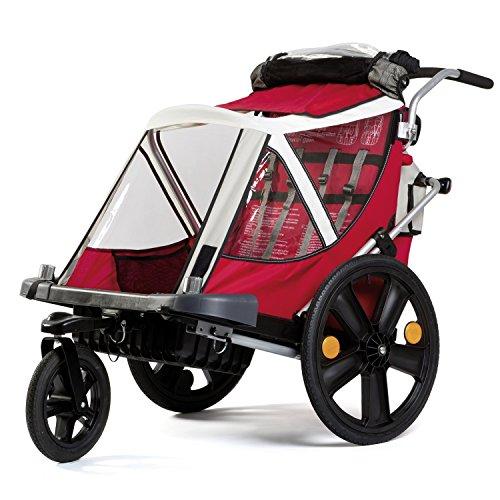 Bellelli 20 Zoll Urban B-Travel Buggy Kinder Kinderanhänger Fahrradanhänger Kinderwagen, Farbe:Orange