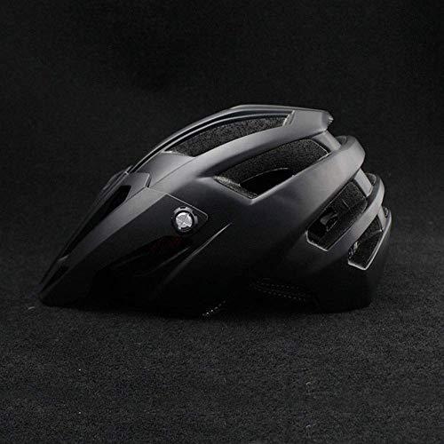 JIAMEIMEI Casco de Ciclismo Masculino Casco de Bicicleta Femenino Casco de Bicicleta Transpirable cómodo for Adultos Casco de Bicicleta de montaña (Color: Negro) Casco homologado Moto