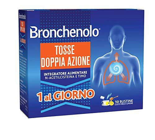 Bronchenolo Tosse Doppia Azione, Integratore Alimentare, per Tosse Secca e Grassa, Efficace per 24...