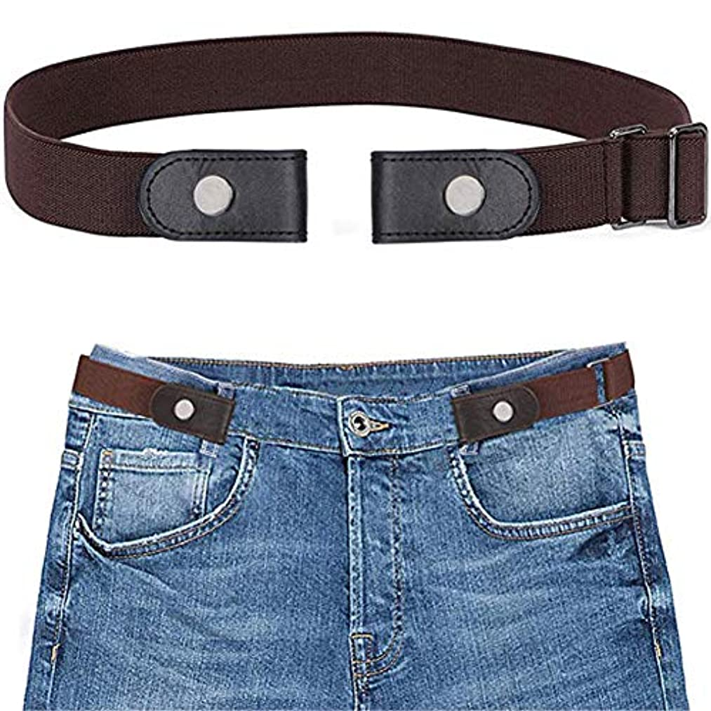 ALAIX Buckle-free Elastic Belt for Jeans Dress without Buckle Comfortable Invisible Buckless Belt for Men and Women