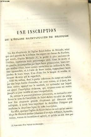 UNE INSCRIPTION DE LEGLISE SAINT-JULIEN DE BRIOUDE / PRIX-FAIT DUN TABLEAU, commandé au peintre Guy Francois, pour la cathédrale du Puy