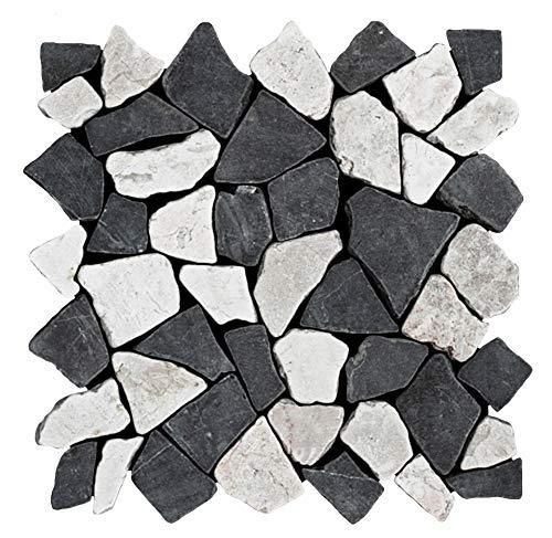 M-1-006 - 1 m² = 11 Fliesen - Naturstein Marmor Bruchstein Mosaikfliesen Marmormosaik Fliesen Lager Verkauf Stein-Mosaik Herne NRW