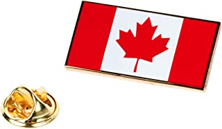 Canada Flag Lapel Pin Patriotic Canadian Maple Leaf Tie Tack Emblem