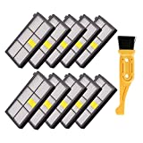 FixCracked 10 Pcs Hepa Filter Replacement for iRobot Roomba 800 900 Series 800 805 850 860 861 866 870 880 890 960 980 Vacuum Cleaner& Free fliter Cleaning Brush Tool