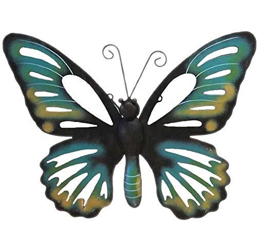 Wanddeko Schmetterling blau Wanddekoration Garten Deko Wand Butterfly