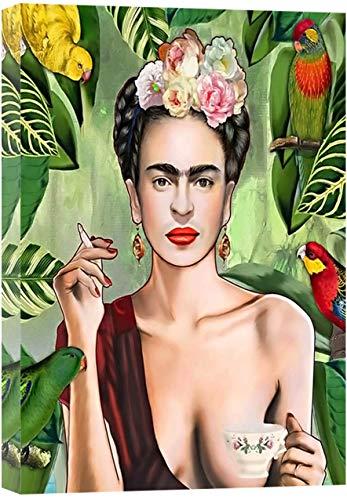 Frida Kahlo Leinwand-Malerei Schöne Frauen Druck Auf Leinwand-Wand-Kunst-Dekor Poster Wohnkultur Bild Für Livng Zimmer, Hotel, Zimmer, Frameless,50×70cm