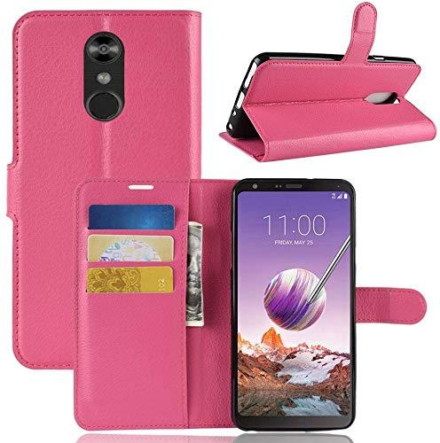 CoverKingz Handytasche für LG Q Stylus Handyhülle, Flip Hülle Cover, Schutzhülle mit Kartenfach, Handy Hülle Pink
