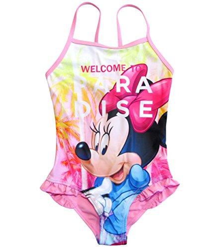 Minnie Mouse Badeanzug Kollektion 2018 Badesachen 92 98 104 110 116 122 128 Schwimmbekleidung Bademode Sommer Rosa (Rosa, 110-116)