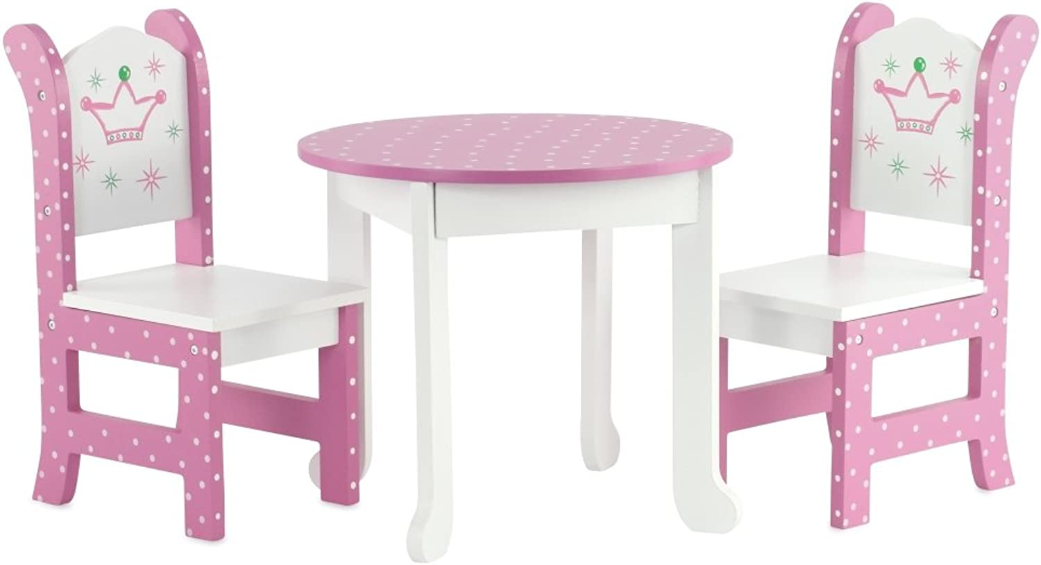 46cm Doll Furniture Fits American Girl Dolls  46cm Wish Crown Table and Chairs