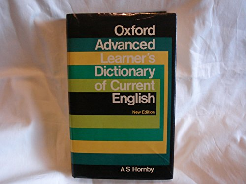 The Oxford Advanced Learner's Dictionary of Current English