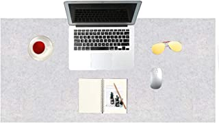 CHuangQi 47 inch X 20 inch Desk Mat, Computer, Laptop, Keyboard & Mouse Pad Organizer, Felt Cover Office Table Protector