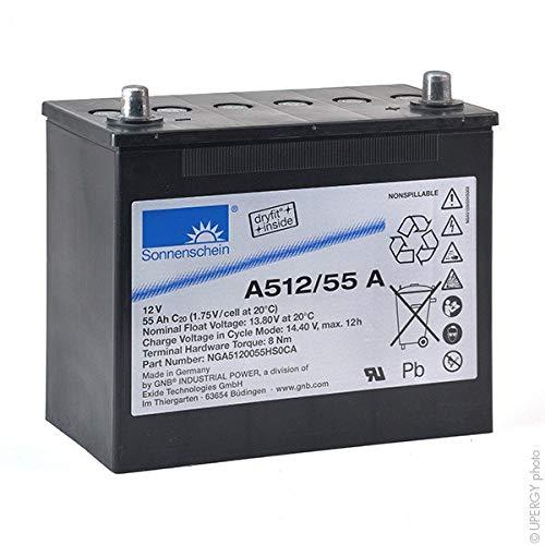 GNB Sonnenschein A500 - Batteria GEL A512/55A 12V 55Ah Auto
