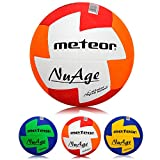 meteor Handball Ballon d'entraînement en Caoutchouc pour Ballon de Handball pour Enfants Junior Homme Femme (Enfant #0 (47-49 cm), Rouge/Orange)