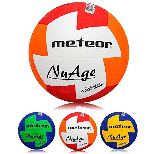 meteor® Nuage Handball Kinder Jugend Damen ideal auf die Kinderhände abgestimmt idealer Handbälle für Ausbildung weicher handballen mit griffiger Oberfläche (Damen #2 (54-56 cm), Rot/Orange)