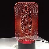 yuandp Lámpara de Noche LED Creativa Lámpara de Noche para Dormitorio Infantil Santa Madre María Madre de Dios Decoración para el hogar Mejor Regalo 7 Colores cambiantes