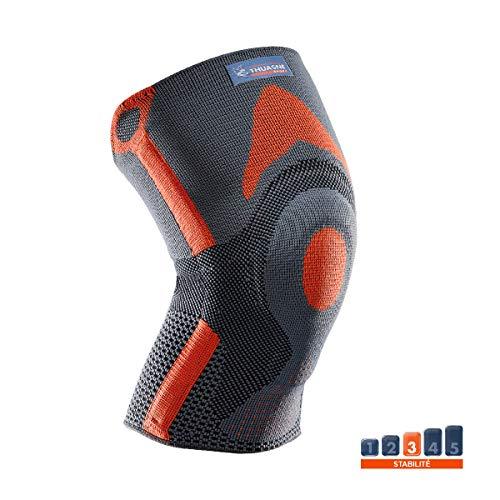 Verstärkte Patella-Knieorthese von Thuasne Sport - Grau/Orange - Größe L