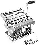 SEISSO Machine à Pâtes Manuelle avec Séchoir - Acier Inoxydable Outil Polyvalent Réglable en Épaisseur, Laminoir et Manivelle - Nouilles Fraîches Maison, Spaghetti, Lasagnes