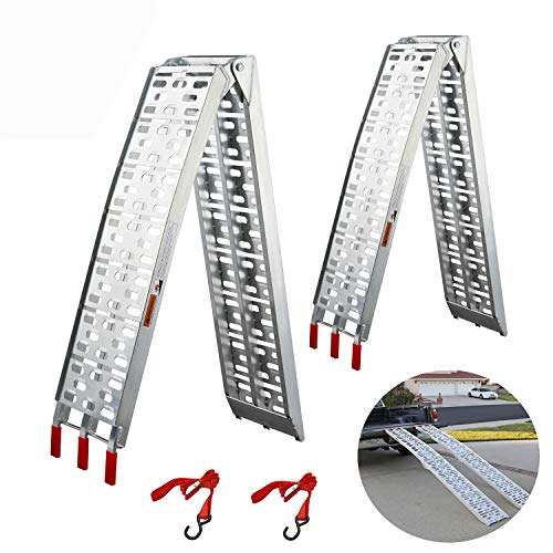 ATV Loading Ramps, gardhom 2 PC 1500 lbs Capacity 7.5' Aluminum Folding Ramps For Pickup Trucks Trailers Motorcycles