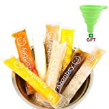AZONBEY 140Pcs Disposable Ice Popsicle Mold Bags,Homemade Ice Pop Bags with A Funnel and Zip Seals...