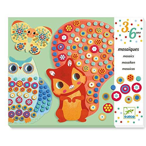 Djeco Kreativ Set Mosaikbilder Milfiori Waldtiere, Multicolour