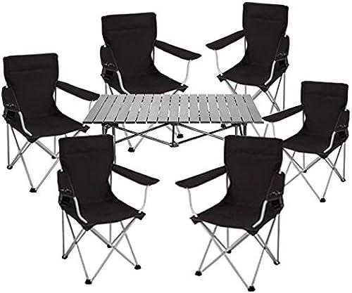 KOKR Table Pliante 6 Ensemble de Chaises