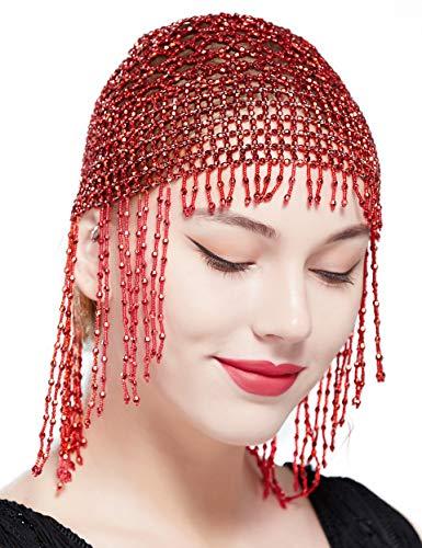 ArtiDeco 1920 Hoofdband voor dames, gatsby haarketting, buikdans, exotisch cleopatra kostuum, accessoires, 20 jaar flapper knipperende haarband
