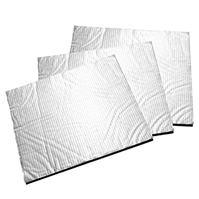 MUTUBEN 3PCS 3D Printer Heated Bed Foil Self-Adhesive Insulation Cotton Mat 3D Printer Heated Bed Insulation Lightweight Foam Foil Thermal Insulation Mat for 3D Printer Heatbed Parts 300 x 300mm