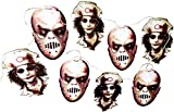 Scary Halloween Decorations, Bloody Nurse Zombie Garland Banner for Haunted House, Indoor/Outdoor Spooky Decoration, 6 Feet Long