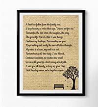 Boston Traders A Limb Has Fallen from Our Family Tree | Wall Art Sympathy Gift | Family Loving Memorial Gift