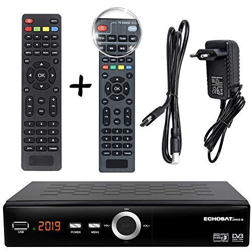 hd-line Echosat 20900 M Pro Digital Sat Receiver + intelligente Fernbedienung (HDTV, DVB-S/S2, HDMI, SCART, 2X USB 2.0, Full HD 1080p)[Vorprogrammiert für Astra Hotbird Türksat]